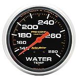 "Auto Meter 5431 Pro-Comp 2-5/8"" Mechanical Water Temperature Gauge (140-280 Degree F, 66.7mm)"