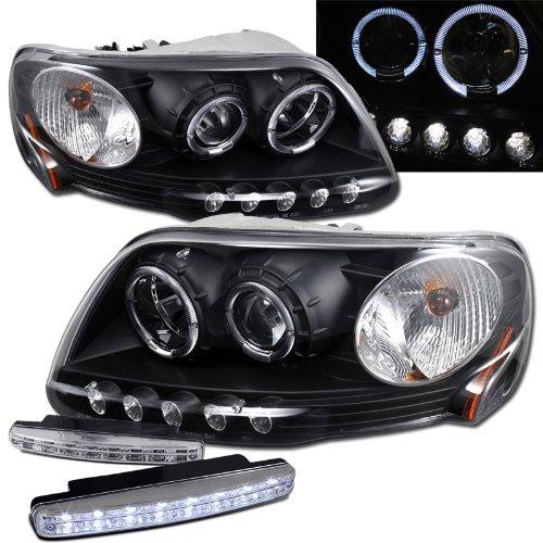 1997-2003 Ford F150 Halo Projector Headlights + 8 Led Fog Bumper Light