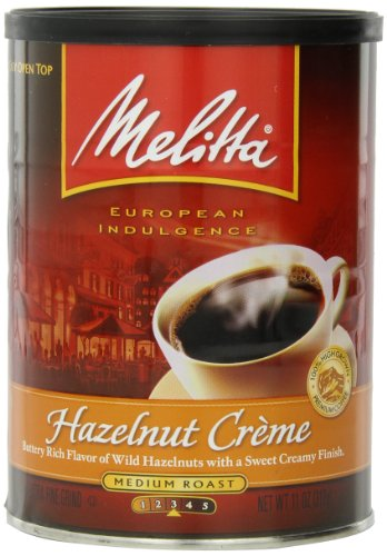 Melitta Coffee, Hazelnut Cr?Me Ground, Medium Roast, Flavored, 11-Ounce