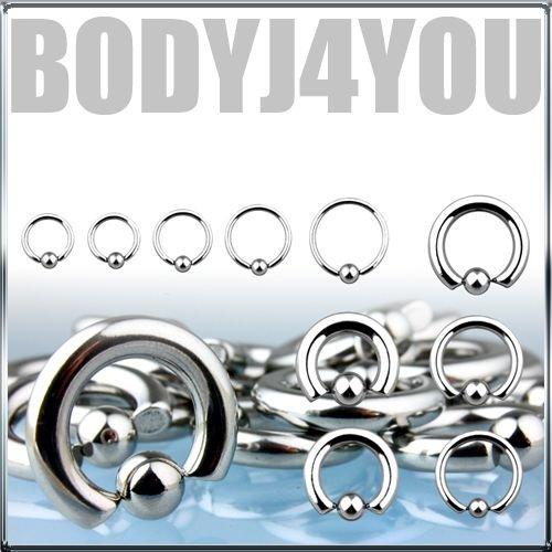 Lot of 6 Bcr Cbr 14g 1/2 Body Piercing Jewelry