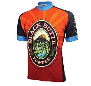 World Jerseys Men's Black Butte Porter Cycling Jersey, Black Butte Porter, Medium