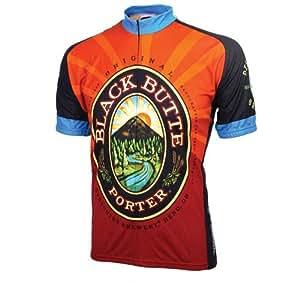 World Jerseys Men's Black Butte Porter Cycling Jersey, Black Butte Porter, Medium