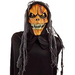 Forum Novelties Men's Hooded Pumpkin Monster Mask, Multi, One Size