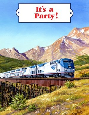 Amtrak Train Invitation Cards
