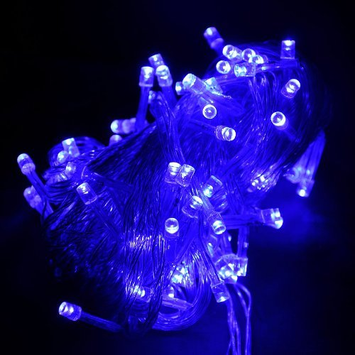 Lychee® Fairy String Light For Outdoor Room Garden Home Christmas Party Decoration (Blue, 10M 100Leds)