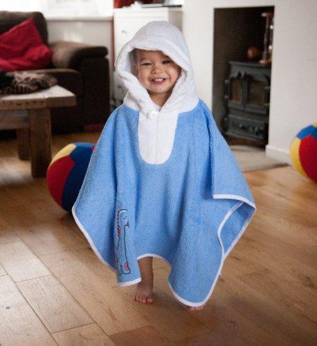 Slumbersac-PonchoSortie-de-bainServiette-pour-enfants-62-x-47-cm-Broderie-dinosaure