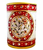 Parampara Stone Studded Marble Pen Stand
