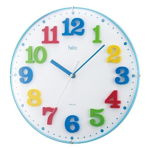Felio (ferio) analog wall clock lunch box blue FEW134BU