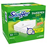Swiffer Sweeper Dry Sweeping Cloths Mop and Broom Floor Cleaner Refills Gain, 32 Count, Gain Original, 32 Count