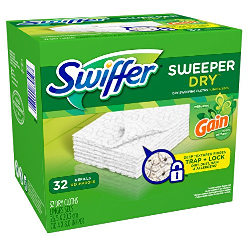 Swiffer Sweeper Dry Sweeping Pad Refills for Floor mop Gain Scent 32 Count (Swiffer Sweeper Dry compare prices)