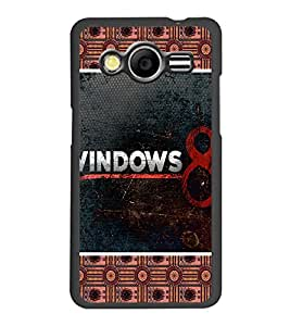 PrintDhaba Windows 8 D-5096 Back Case Cover for SAMSUNG GALAXY CORE 2 G355H (Multi-Coloured)