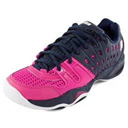 Prince T22 Womens Tennis Shoes (8.5, Navy/Punch)