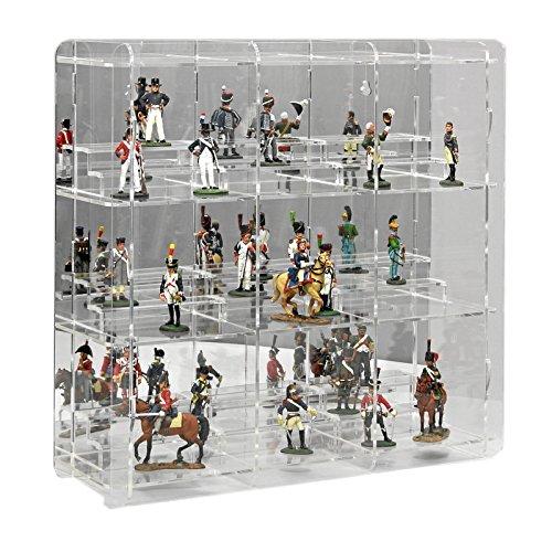 vitrine sora pour de figurines avec miroir panneau arri re la boutique des jeux et jouets. Black Bedroom Furniture Sets. Home Design Ideas
