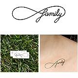 Infinity Symbol Family Temporary Tattoo (Set of 2)