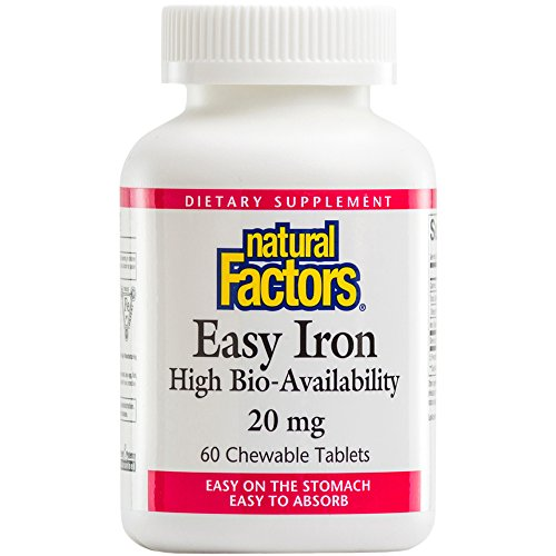 Natural Factors Easy Iron Chewables 20mg Tablets, 60-Count (Iron Chewable compare prices)