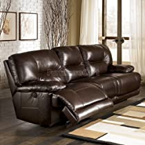 Big Sale Brown Reclining Power Sofa - Signature Design by Ashley Furniture