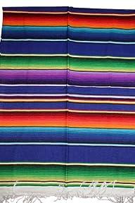 Mexican Serape Saltillo Blanket (X-la…