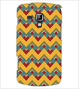 PrintDhaba Pattern D-5116 Back Case Cover for SAMSUNG GALAXY S DUOS S7562 (Multi-Coloured)