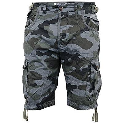 Smith & Jones Herren Shorts Cargo Kampf Tarnfarbe Knielang Jeans Militärstil Neu