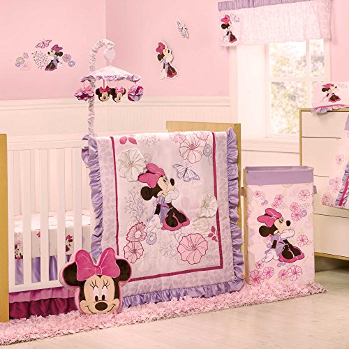 Best Minnie Mouse Butterfly Dreams Piece Baby Crib Bedding Set by Kidsline Baby