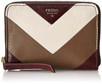 Fossil Sydney CB Zip Wallet,Raisin,One Size