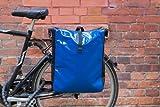 Packtasche Fahrradtasche Gepäcktasche Satteltasche aus LKW Plane NEUES MODELL Blau