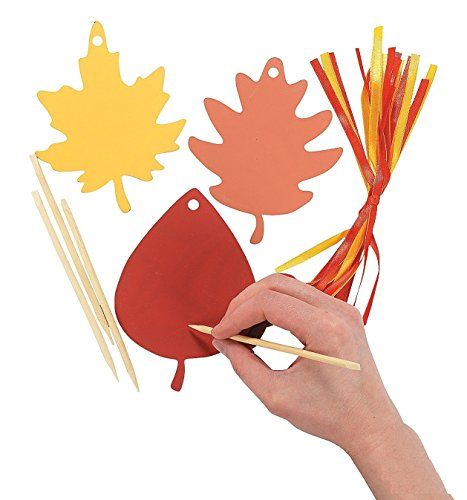 Colorful Paper Magic Color Scratch Leaves (24 pc)