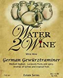 NV Water 2 Wine German Gewurztraminer 750 ml