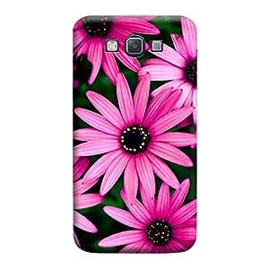 MakemyCase Samsung A7 Pink Flowers 3D Matte Finishing Printed Designer Hard Back Case Cover (Pink)