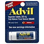 Advil Pain Reliever/Fever Reducer, 200 mg, Coated Tablets, Pocket Pack 10 tablets