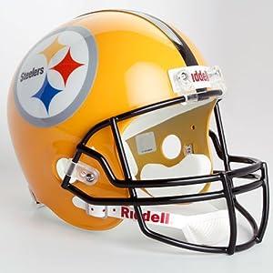 NFL Riddell Pittsburgh Steelers Gold 2007 Throwback Replica Full-Size Helmet by Scorehere