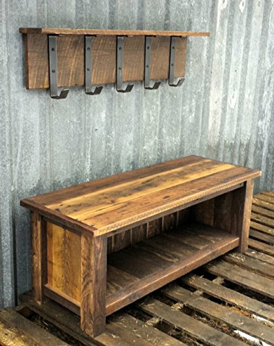 Price tracking for reclaimed barnwood bench shelf set for Price of reclaimed wood