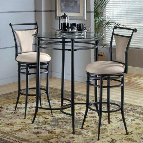 GLASS PUB TABLE SET : GLASS PUB