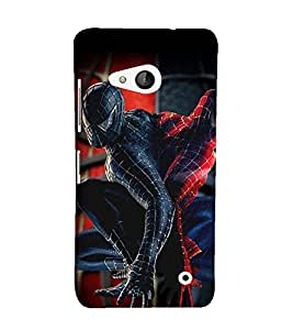 Printvisa Premium Back Cover Spider Man Replica Pic Design For Microsoft Lumia 550::Nokia Lumia 550