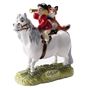 Thelwell Halloa Away Grey Pony with Rider and Fox (JBT10GR)