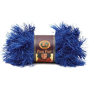 Lion Brand Yarn 320-109 Fun Fur Yarn, Sapphire