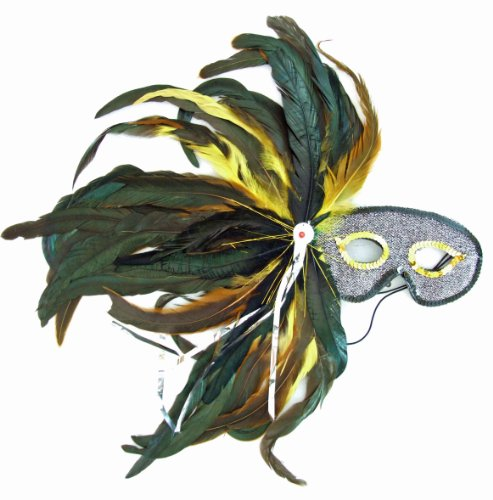 Athena Masquerade Ball Party Mask Feather Halloween Prom Costume Party