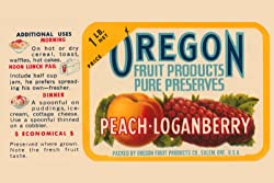 Art Poster, Peach - Loganberry Preserves - 20x30