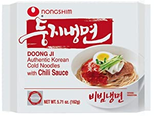 Nongshim Doong Ji Cold Noodles In Chili Sauce 571-ounce Bags Pack Of 20 by Nongshim