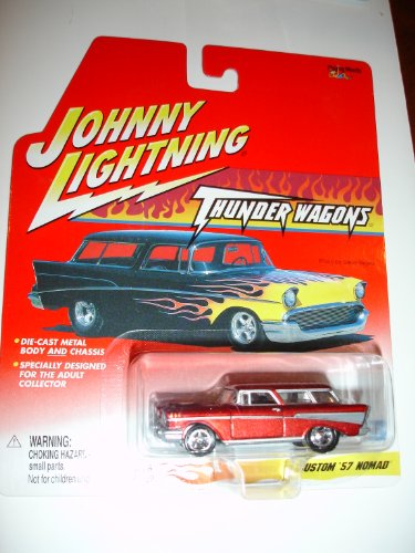 Johnny Lightning 1:64 Scale Thunder Wagons Custom 1957 Nomad Die-cast Collectible - Metallic Red - 1