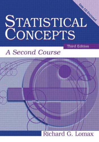 Statistical Concepts: A Second Course, Third Edition
