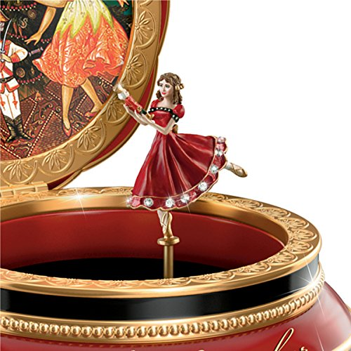 Clara And The Nutcracker Heirloom Porcelain Music Box with Russian Style Art by The Bradford Exchange 2
