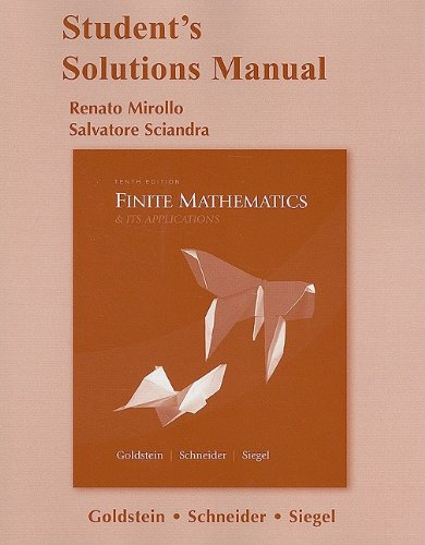 Student Solutions Manual for Finite Mathematics & Its...