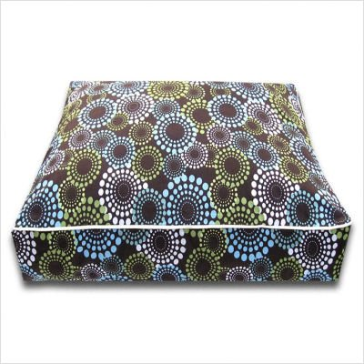 Rectangle Daisy Dots Dog Bed