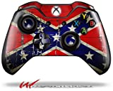 Painted Faded and Cracked Rebel Confederate Flag - Decal Style Skin fits Microsoft XBOX One Wireless Controller