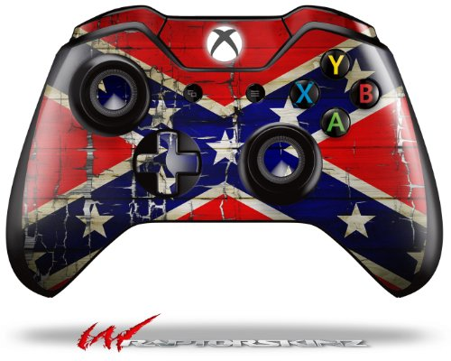Painted Faded and Cracked Rebel Confederate Flag - Decal Style Skin fits Microsoft XBOX One Wireless Controller wood grain oak 01 holiday bundle decal style skin set fits xbox one console kinect and 2 controllers xbox system sold separately