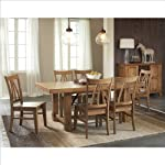 Riverside Furniture Summerhill 6 Piece Dining Table Set in Canby Rustic Pine