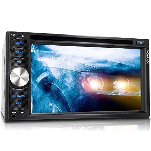 XOMAX-XM-2DTSB6217-Autoradio-Moniceiver-Bluetooth-Freisprecheinrichtung-Musikwiedergabe-16cm-62-HD-Touchscreen-Display-Audio-Video-MP3-inkl-ID3-TAG-WMA-MPEG4-AVI-DIVX-etc-Codefree-DVD-CD-Player-USB-An