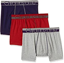 Chromozome Men's Cotton Boxer (Pack of 3) (8902733350013_WS 03_Medium_Red, Plum and Grey)