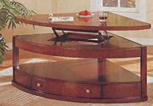 Pie shaped lift top coffee table Pie shaped coffee table